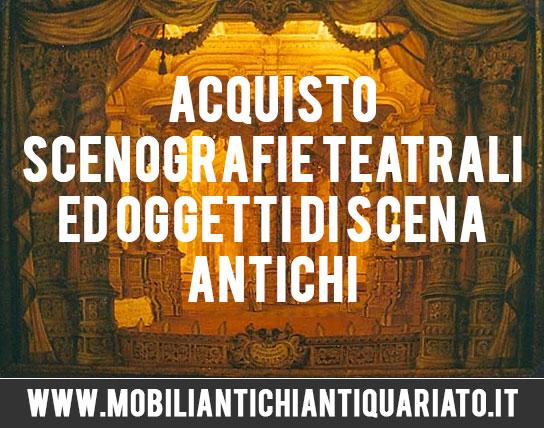 Acquisto scenografie teatrali antiche